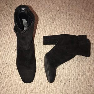 Franco Sarto black Suede Booties 8.5